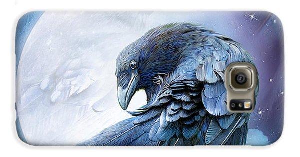 Raven Moon Galaxy S6 Case by Carol Cavalaris