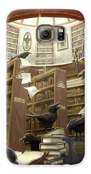 Ravens In The Library Galaxy S6 Case by Rob Carlos