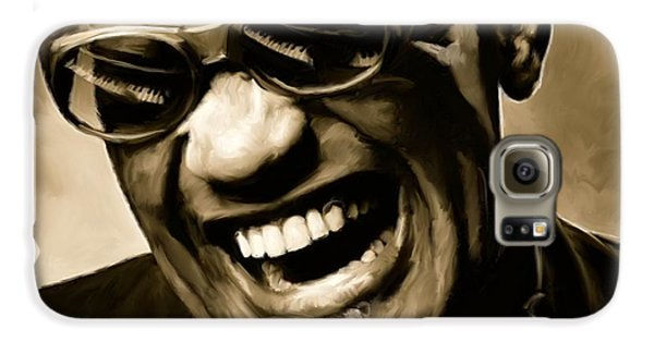 Jazz Galaxy S6 Case - Ray Charles - Portrait by Paul Tagliamonte
