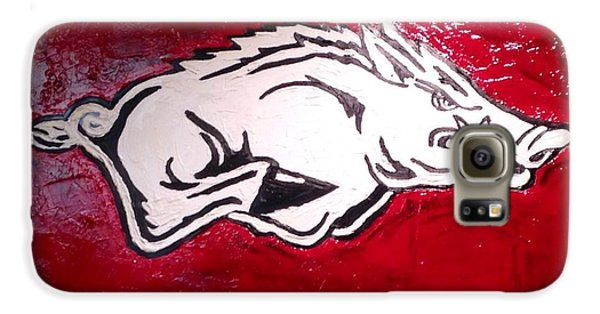 Razorback Painting Art Galaxy S6 Case by Dawn Bearden