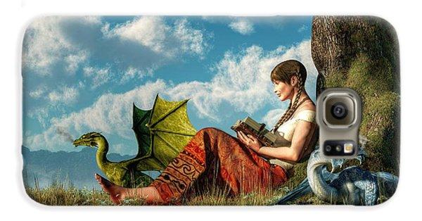 Dungeon Galaxy S6 Case - Reading About Dragons by Daniel Eskridge