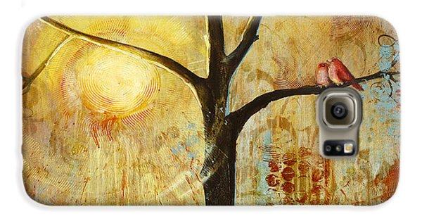 Red Birds Tree Version 2 Galaxy S6 Case by Blenda Studio