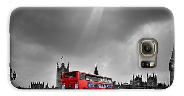 Red Bus Galaxy S6 Case by Svetlana Sewell
