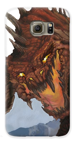Red Dragon Galaxy S6 Case by Matt Kedzierski