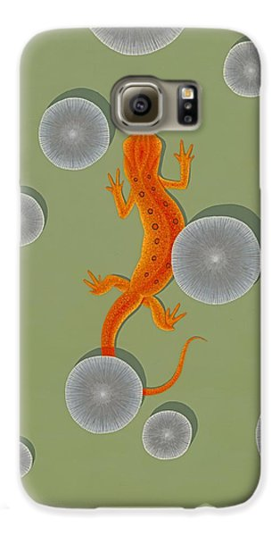 Red Eft Newt Galaxy S6 Case by Nathan Marcy