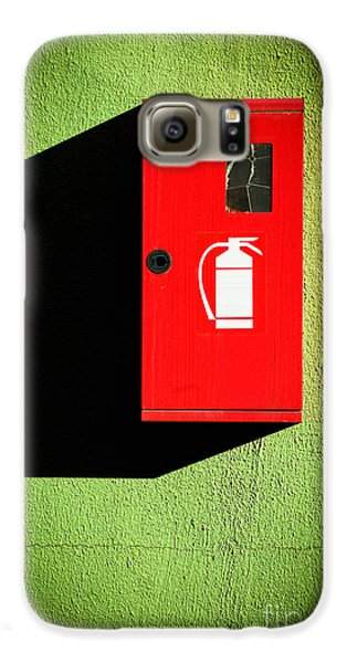 Red Fire Extinguisher Box Galaxy S6 Case by Silvia Ganora