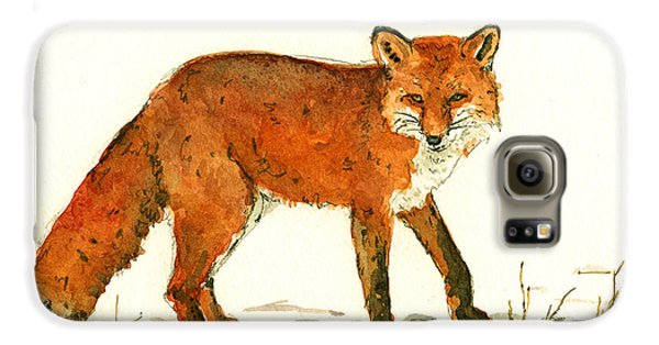 Red Fox In The Snow Galaxy S6 Case