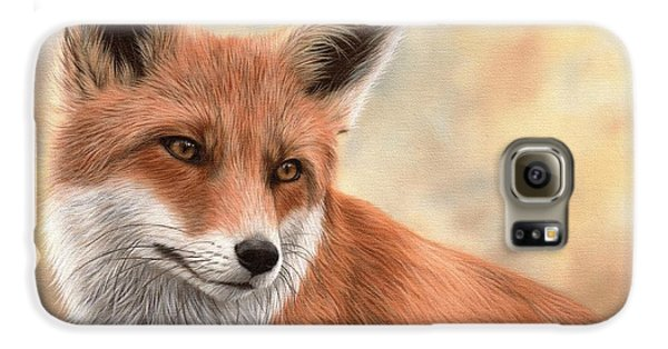 Red Fox Painting Galaxy S6 Case