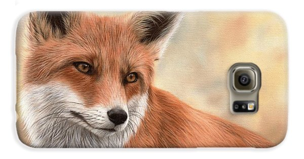 Red Fox Painting Galaxy S6 Case by Rachel Stribbling