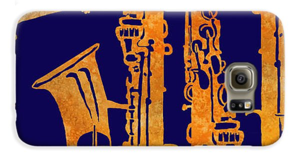Red Hot Sax Keys Galaxy S6 Case by Jenny Armitage