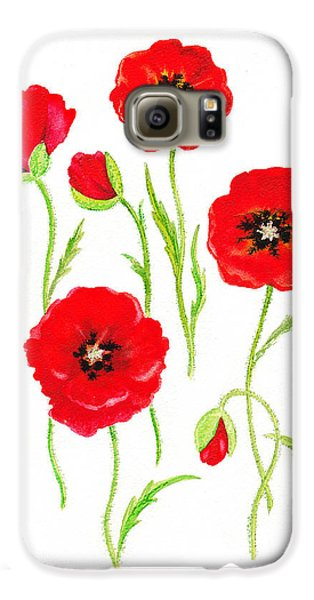 Red Poppies Galaxy S6 Case