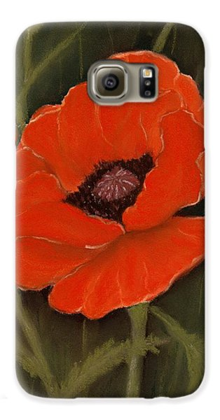 Red Poppy Galaxy S6 Case