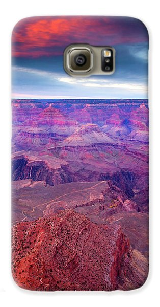 Red Rock Dusk Galaxy S6 Case by Mike  Dawson