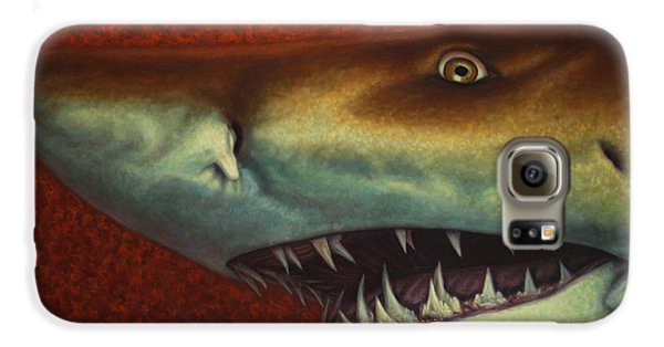 Reef Shark Galaxy S6 Case - Red Sea Shark by James W Johnson