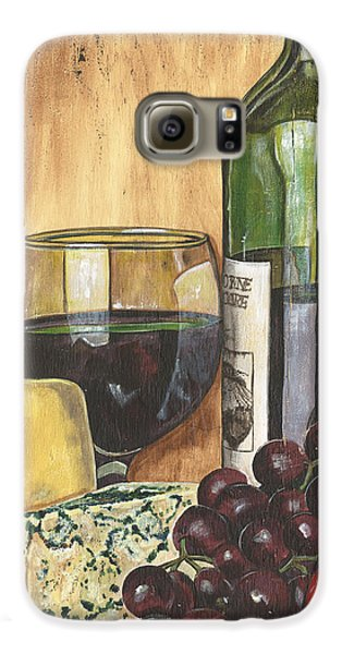 Red Wine And Cheese Galaxy S6 Case by Debbie DeWitt