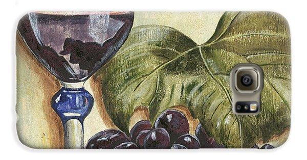 Wine Galaxy S6 Case - Red Wine And Grape Leaf by Debbie DeWitt
