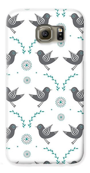 Lovebird Galaxy S6 Case - Repeat Lovebird by Susan Claire