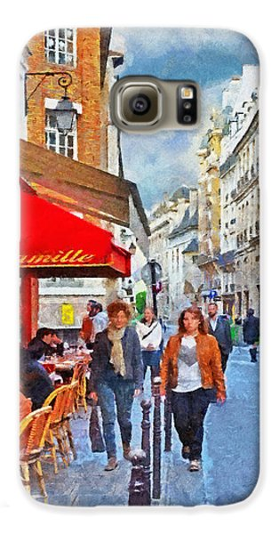 Restaurant Camille In The Marais District Of Paris Galaxy S6 Case