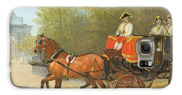 Returning From Her Majestys Drawing Room Galaxy S6 Case by Alfred Corbould