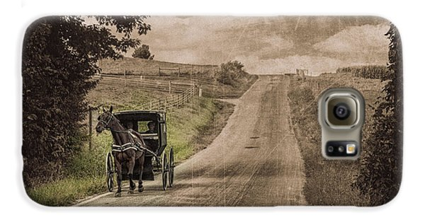 Riding Down A Country Road Galaxy S6 Case by Tom Mc Nemar