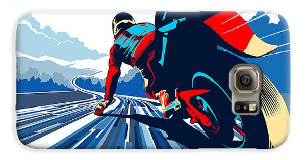Motorcycle Galaxy S6 Case - Riding On The Edge by Sassan Filsoof