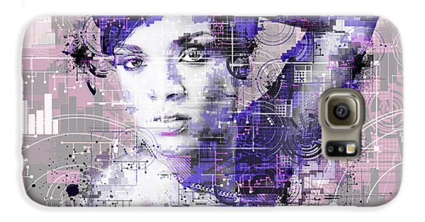 Rihanna 3 Galaxy S6 Case by Bekim Art