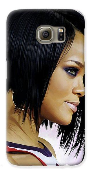 Rihanna Artwork Galaxy S6 Case by Sheraz A