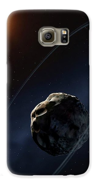 Ringed Asteroid Chariklo Galaxy S6 Case by Mark Garlick