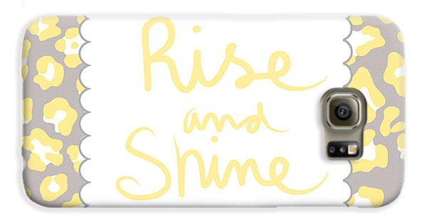 Leopard Galaxy S6 Case - Rise And Shine- Yellow And Grey by Linda Woods