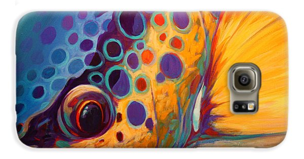 River Orchid - Brown Trout Galaxy S6 Case by Savlen Art