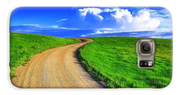 Landscapes Galaxy S6 Case - Road To Heaven by Kadek Susanto