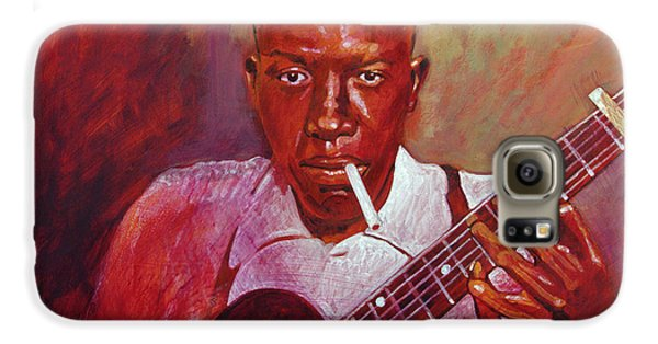 Robert Johnson Photo Booth Portrait Galaxy S6 Case by David Lloyd Glover