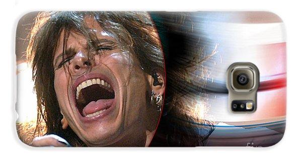 Rock N Roll Steven Tyler Galaxy S6 Case by Marvin Blaine