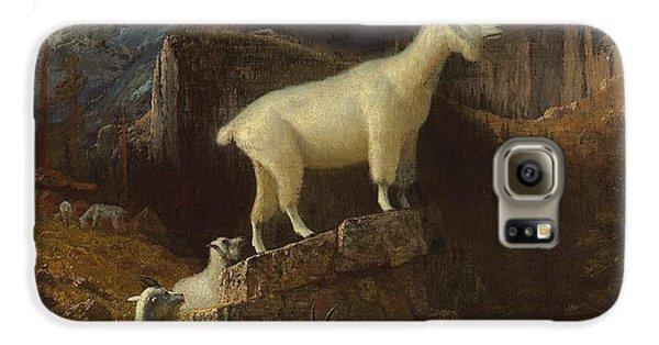 Rocky Mountain Goats Galaxy S6 Case by Albert Bierstadt