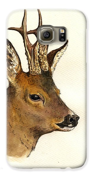 Roe Deer Head Study Galaxy S6 Case by Juan  Bosco