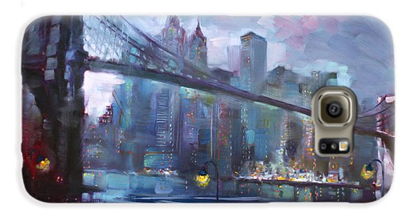 Romance By East River II Galaxy S6 Case by Ylli Haruni