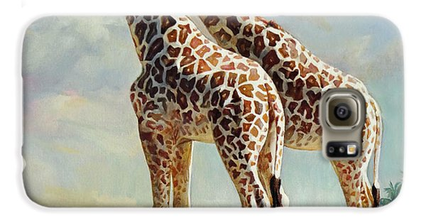 Romance In Africa - Love Among Giraffes Galaxy S6 Case by Svitozar Nenyuk