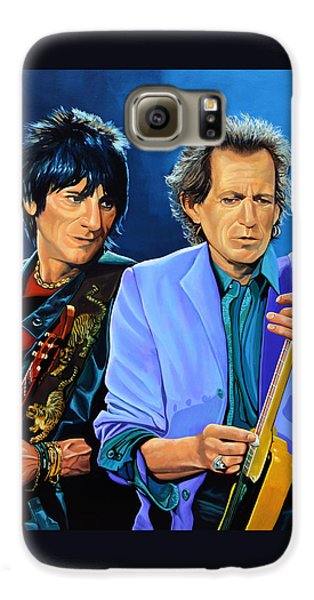 Rolling Stone Magazine Galaxy S6 Case - Ron Wood And Keith Richards by Paul Meijering