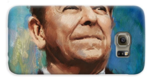 Ronald Reagan Portrait 6 Galaxy S6 Case by Corporate Art Task Force