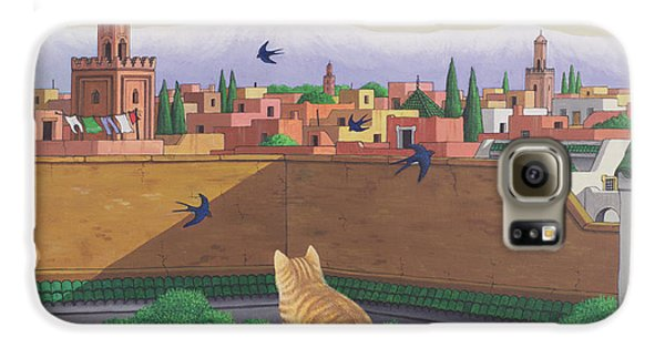Rooftops In Marrakesh Galaxy S6 Case by Larry Smart