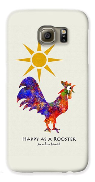 Rooster Pattern Art Galaxy S6 Case by Christina Rollo