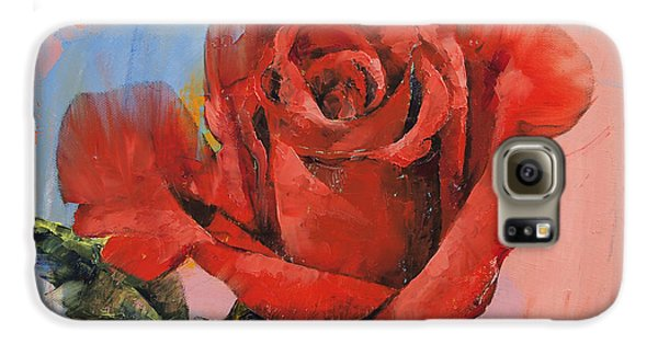 Rose Painting Galaxy S6 Case by Michael Creese