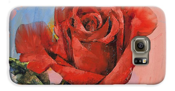 Rose Galaxy S6 Case - Rose Painting by Michael Creese
