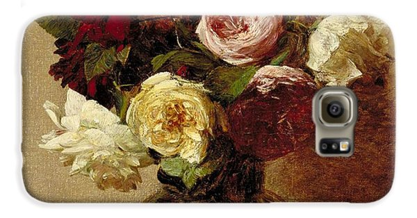 Rose Galaxy S6 Case - Roses by Ignace Henri Jean Fantin-Latour