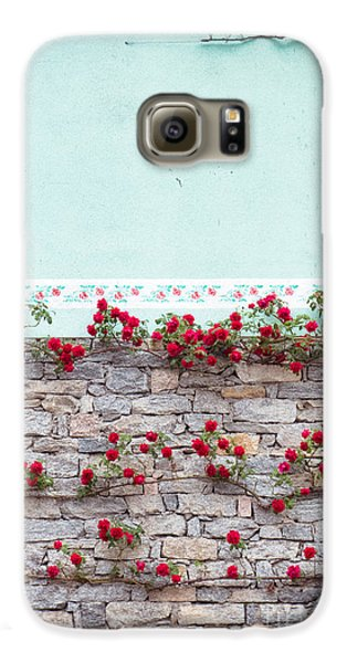 Roses On A Wall Galaxy S6 Case by Silvia Ganora