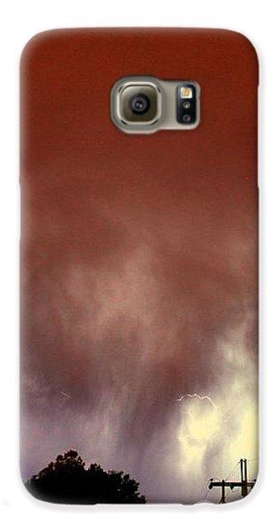 Nebraskasc Galaxy S6 Case - Rounds 2 3 Late Night Nebraska Storms by NebraskaSC