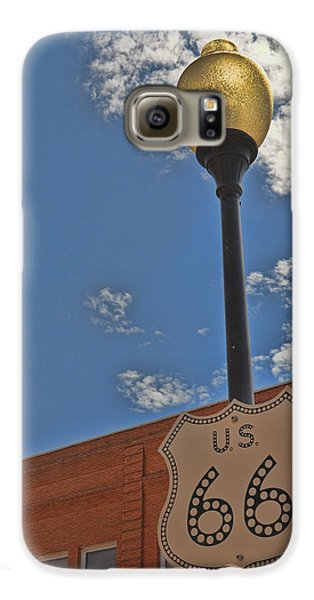 Route 66 Light Post Galaxy S6 Case