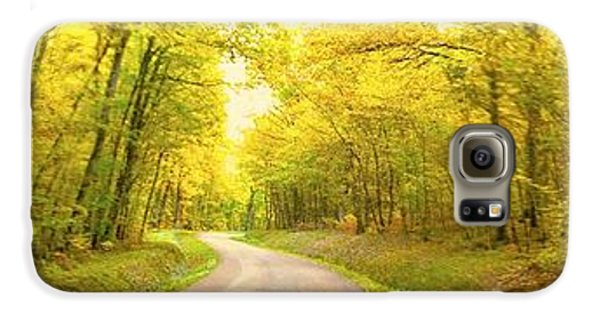 Galaxy S6 Case featuring the photograph Route Dans La Foret Jaune by Marc Philippe Joly