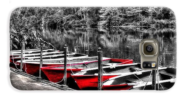 Row Of Red Rowing Boats Galaxy S6 Case
