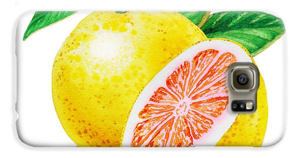 Ruby Red Grapefruit Galaxy S6 Case by Irina Sztukowski